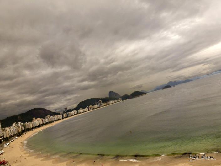 panoramic view of Copacabana beach and Pão de Açúcar (Sugar loaf).Pablo Munini
