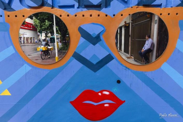 colorful advertsiment at Av. Visconde de Piraja, Rio de Janeiro, Pablo Munini