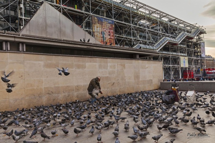 The Bird Man,Beaubourg, Paris .Pablo Munini