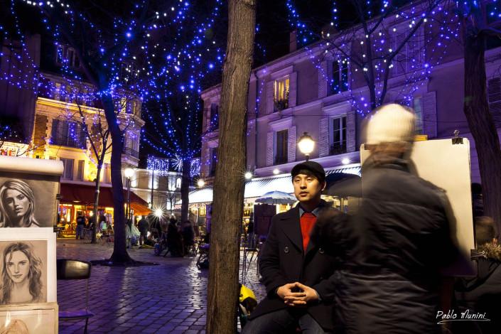 Portrait artist at Place du Tertre in Montmartre.Pablo Munini