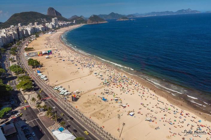 panoramic view of Copacabana beach with the Sugar Loaf , Rio de Janeiro, Pablo Munini