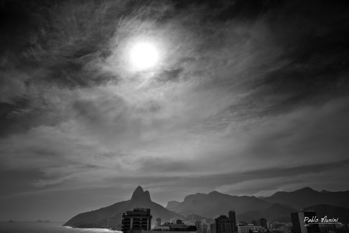 skyline in Ipanema, backdrop Two brother mountains, Rio. Pablo Munini,