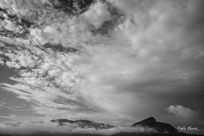 Cloudy sky with Corcovado mountain, Rio de Janeiro,Pablo Munini