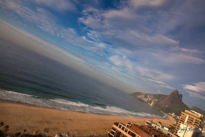 elevated view of the beaches of Ipanema and Leblon at the early morning.Pablo Munini
