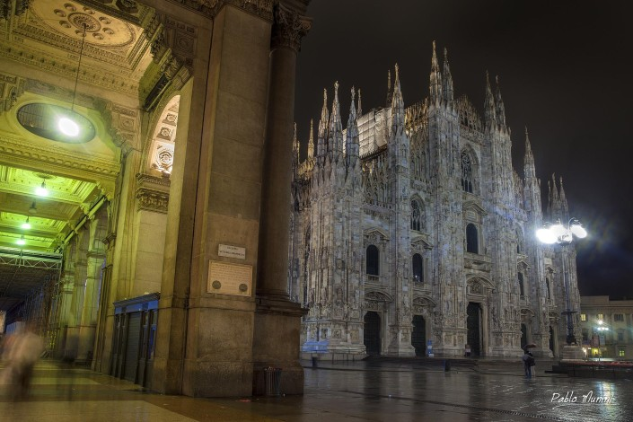 Milan cathedral on a rainy night in 2014.Pablo Munini