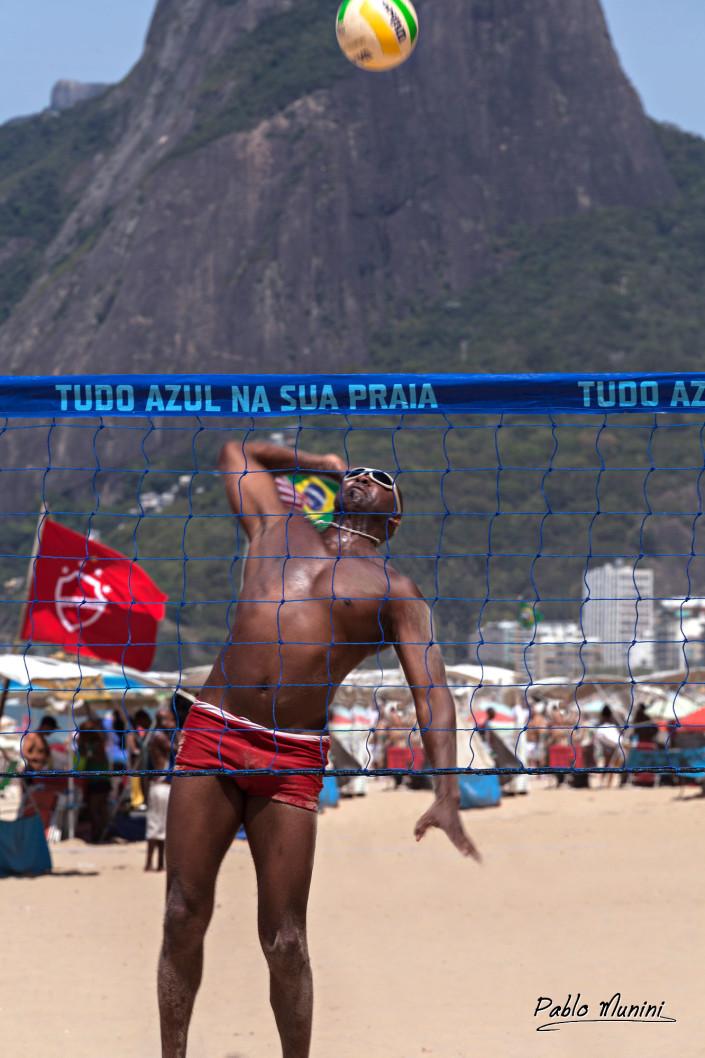 My friend Edson , Volleyball beach in Ipanema , Rio de Janeiro.Pablo Munini