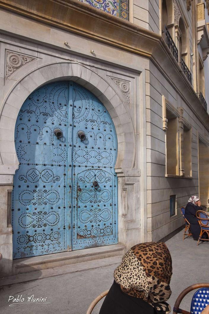 ornate door Tunis.architecture tunisia photography. Islamic architecture. unique mixture of cultures Tunisia.Andalusia baroque Art Deco style