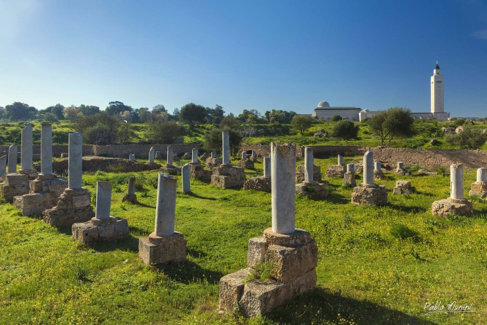 El Abidine Mosque Carthage.Carthaginian civilization ruins. ancient Carthaginian civilization,archaeological site.Phoeniciancapital empire Mediterranean