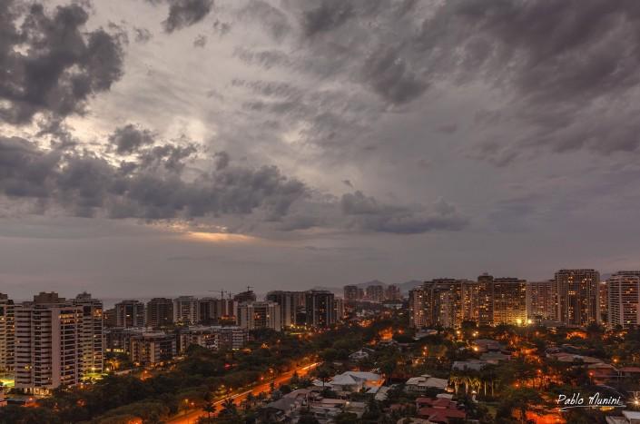 elevated view of Barra da Tijuca at night,Pablo Munini