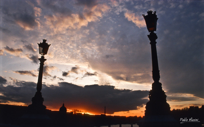 Sunset from Pont Neuf, Paris,1993.