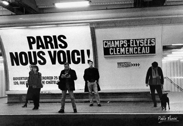 """"""" Paris , here we are """" ,Champs-Élysées–Clemenceau station, 1989.Pablo Munini"""