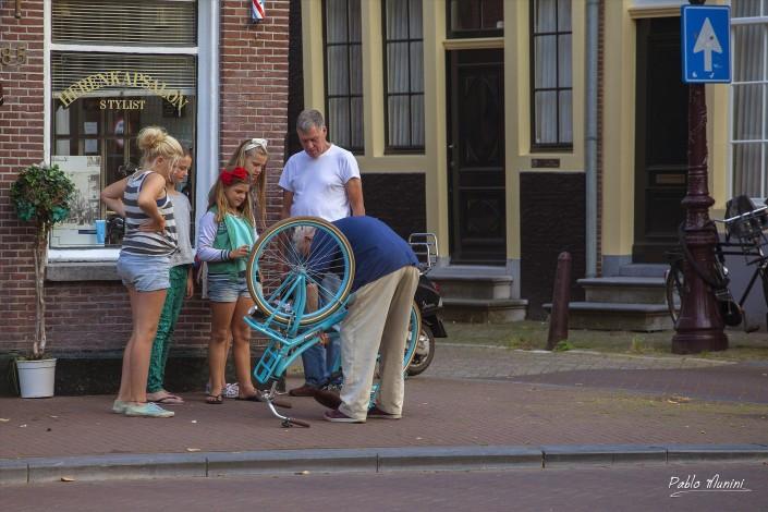 Life in Amsterdam.bicycle symbol of Amsterdam.Pablo Munini Photography