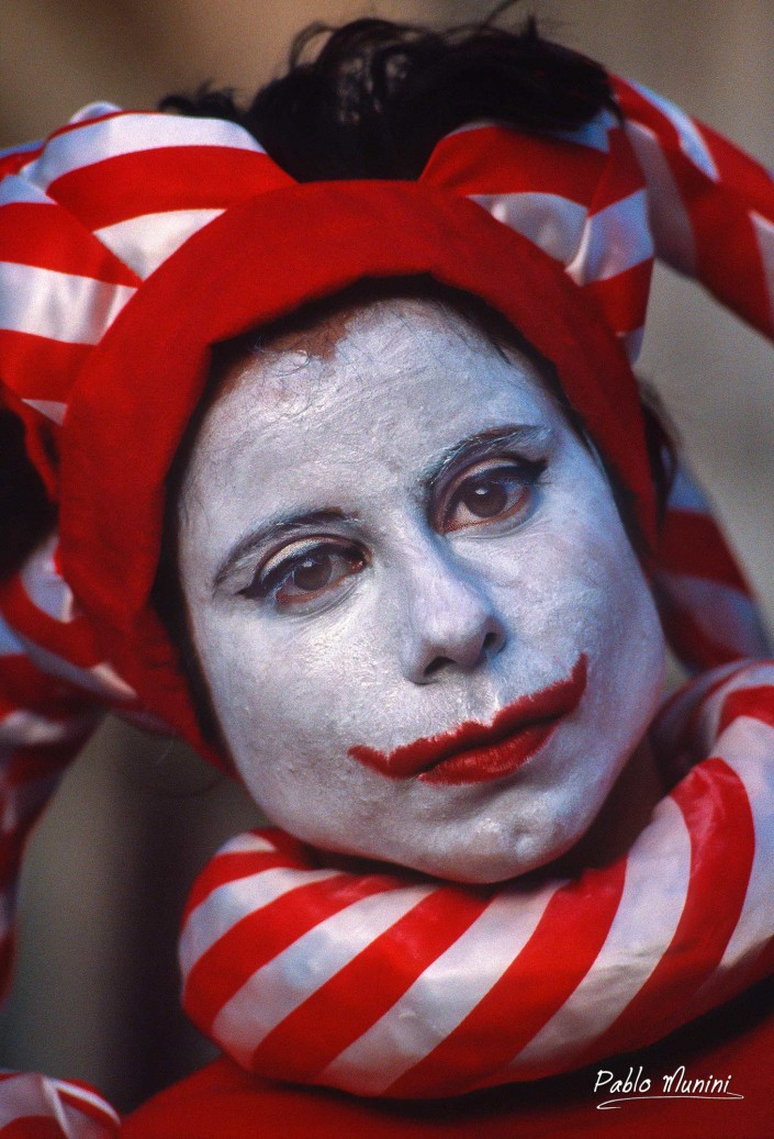 Carnival San Marco Venice, 1993.Analog photographies Pablo Munini