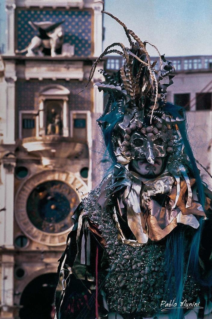 Torre dell'orologio,Carnevale di Venezia 1993. Pablo Munini Photography