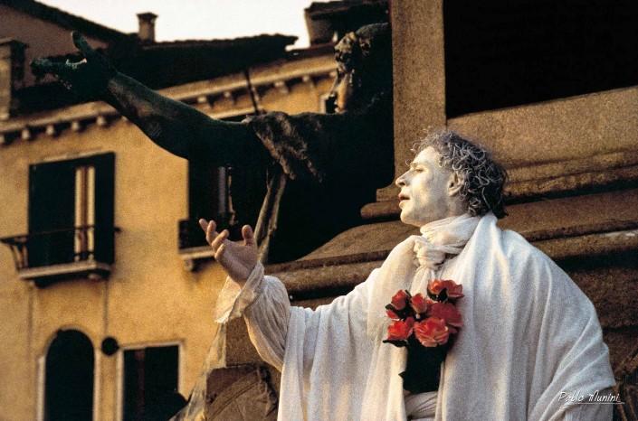 Vittorio Emanuele Statue at Riva Degli Schiavoni, Carnival Venice 1993