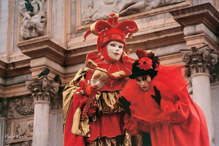 Loggetta del Sansovin. Carnival in Venice 1998. Pablo Munini Photography