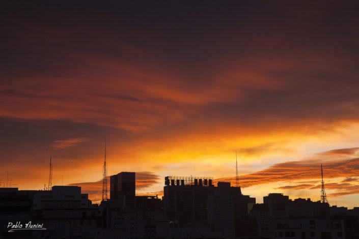 distirict skyline dawn Paulista Avenue towers. Skyscraper, cityscape,tower block.metropolis brazil,jardins district. brazil metropolis.