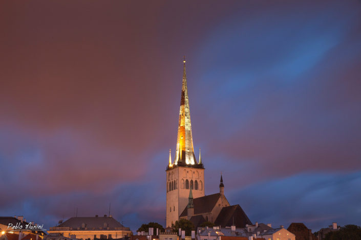 St. Olaf Church from my window at my arrival in Tallin.Pablo Munini