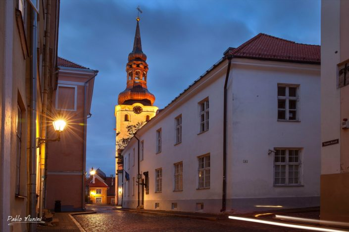 street in upper old town and the Cathedral of Saint Mary the Virgin in Tallinn,Pablo Munini