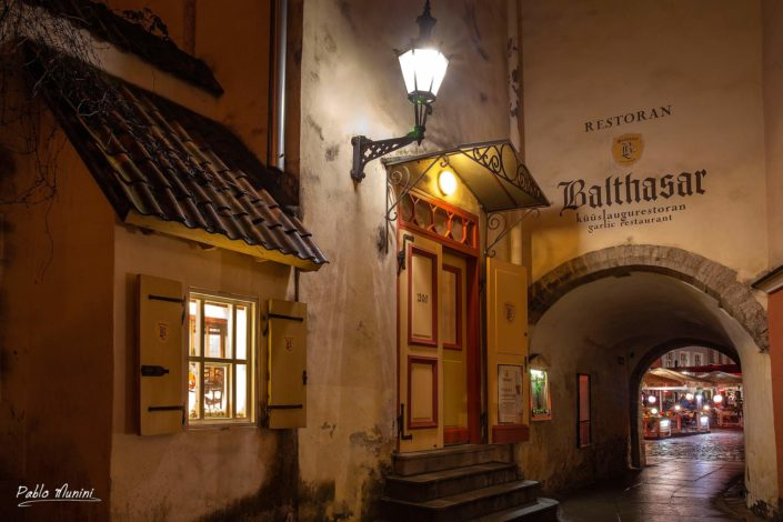 restaurant Balthasar ,named after the notorious writer Balthasar Russow.Pablo Munini