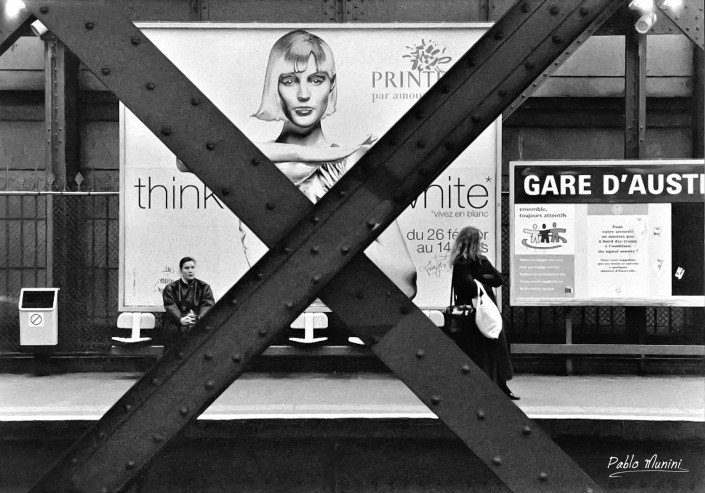 Paris métro station Gare d'Austerlitz , 1998. Pablo Munini