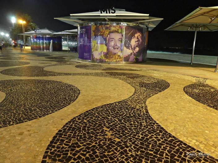 Copacabana promenade. famous boardwalk (calçadão ) Pablo Munini