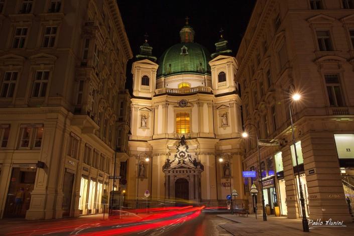 St Peter Church Vienna. Baroque Roman Catholic parish church. Johann Lukas von Hildebrandt.fresco cupola Coronation of Our Lady. Baroque high altar