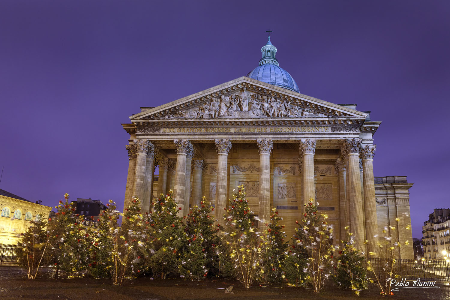 Place du Pantheon, Christmas,Paris.Pablo Munini.
