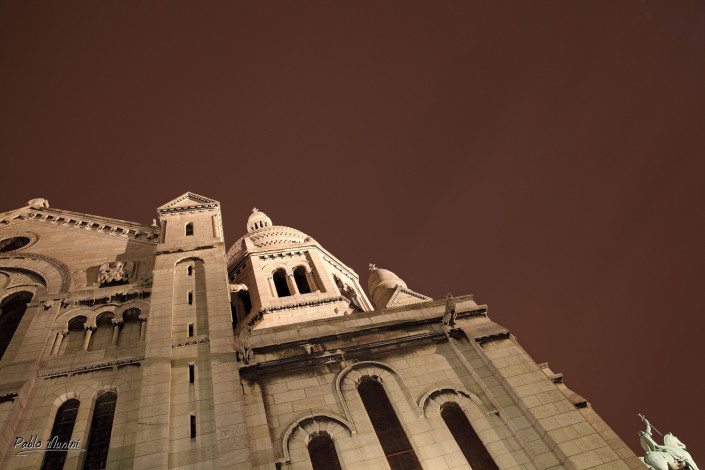 lateral view of Sacre Coeur,Lefebvre of horse being ridden by Joan of Arc.Pablo Munini