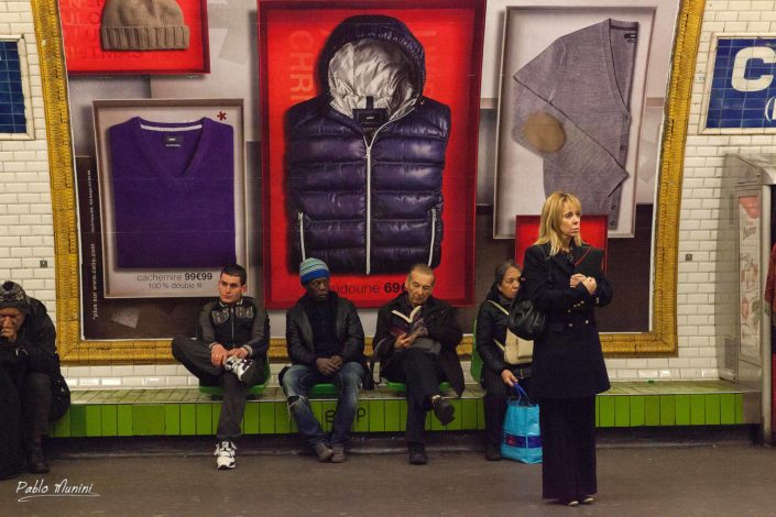 Images in the metro stations in Paris,. Pablo Munini Photography