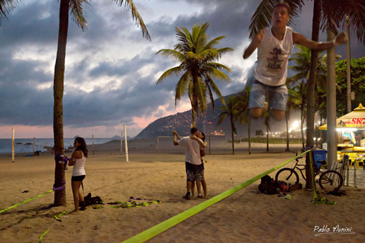Slackline .people exercising by the beach, Active Lifestyle, Photography beach sports Rio de Janeiro,Outdoor sports photography, Football. Volleyball. Stand-Up Surf Paddle. Foot-Volleyball,Frescobol,most beautiful photos Rio de Janeiro landmarks trip to Brazil,sport culture people Rio de Janeiro,