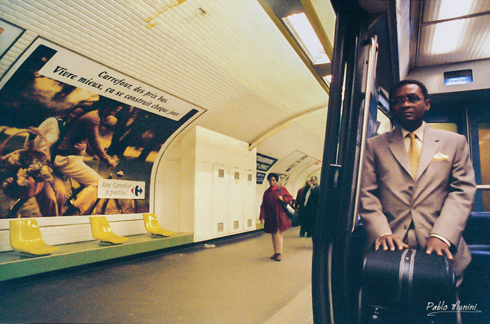 Strasbourg – Saint-Denis, 1998. Analog photography in Paris Metro,1998