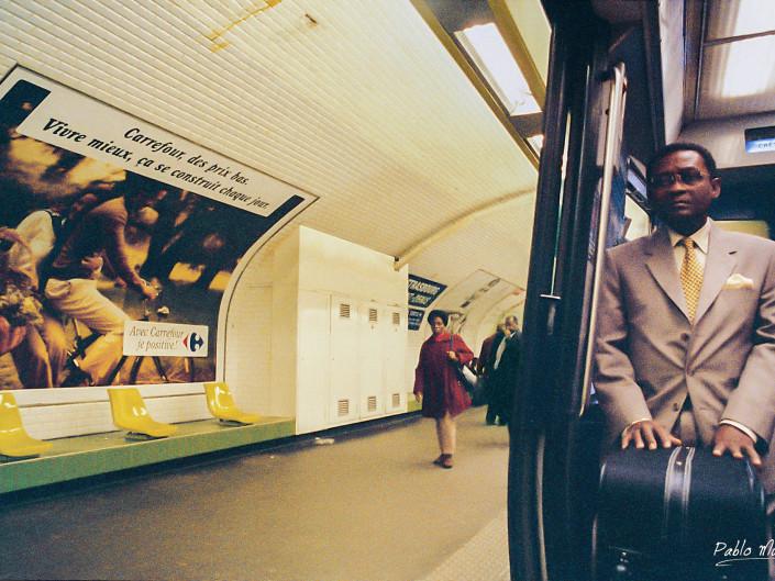 Strasbourg – Saint-Denis, 1998. Analog photography in Paris Metro,1998