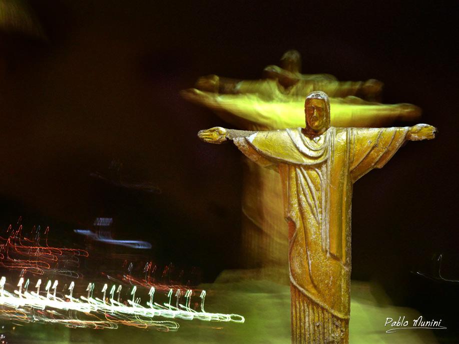 Copacabana images.Cristo Redentor Rio photography.Night in Rio images. night in Copacabana images.