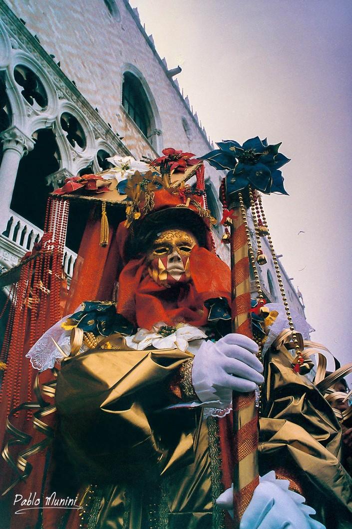 Pier Doge's Palace.Carnival Venice 1998.Pablo Munini Photography