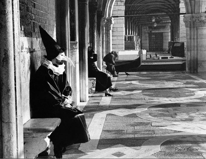 Molo ,Carnival of Venice 1998. Analog photography Carnival of Venice 1998.