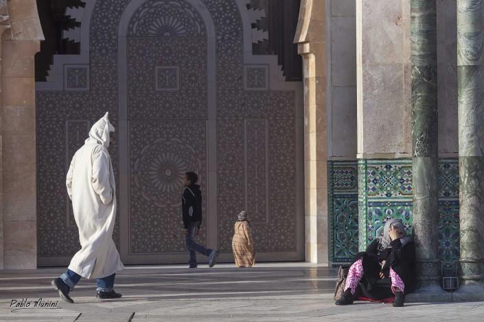 Muslim arab style.Casablanca Morocco photography Hassam II mosque Moroccan architecture.Gothic and Art Deco style. Life Casablanca. People Casablanca.Habous.Unesco site.